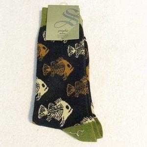 Sock Smith Novelty Socks Mens Fish Seamless Toe